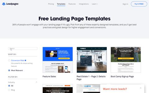 Landing Page Templates by Leadpages®