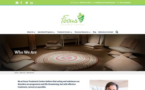 Screenshot of About Page focustreatmentcenters.com - Who We Are   Focus Treatment Centers - captured Aug. 18, 2018