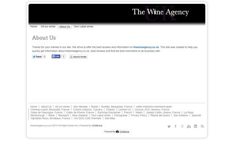 Screenshot of About Page thewineagency.co.uk - About Us - captured Oct. 22, 2014