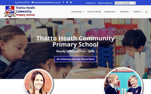 Screenshot of Home Page thattoheath.st-helens.sch.uk - Thatto Heath Community Primary School   St.Helens - captured Nov. 23, 2018