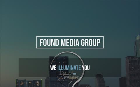 Screenshot of Home Page foundmediagroup.com - Found Media Group » Light the Road - captured Aug. 17, 2018