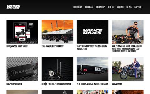 Screenshot of Blog vanceandhines.com - VANCE & HINES | Motorcycle exhaust systems, engine parts, bolt-on accessories and electronic control - captured Oct. 27, 2015