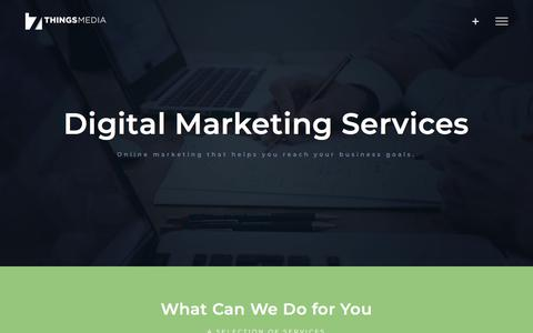 Screenshot of Services Page 7thingsmedia.com - Digital Marketing Services | 7 Things Media - captured Sept. 20, 2018