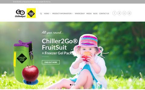 Screenshot of Home Page chiller2go.com.au - Drink Bottles & Neoprene Fruit Suits for people On the Go  - Chiller2go - captured Sept. 20, 2015
