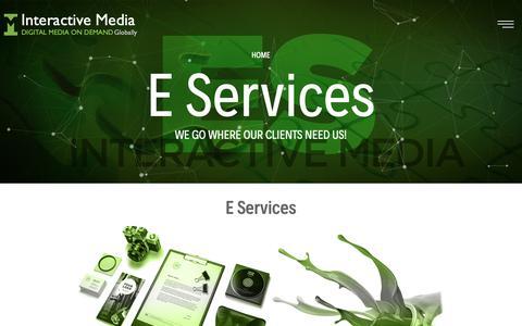 Screenshot of Services Page imedia.com.pk - Interactive Media - Digital Media On Demand Globally - captured Nov. 21, 2018