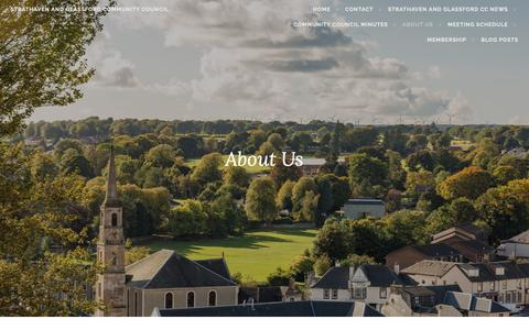 Screenshot of About Page wordpress.com - About Us – Strathaven and Glassford Community Council - captured Oct. 26, 2018