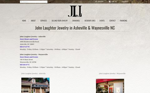 Screenshot of Contact Page Locations Page johnljewelry.com - Locations                           | John Laughter Jewelry - captured Oct. 16, 2017