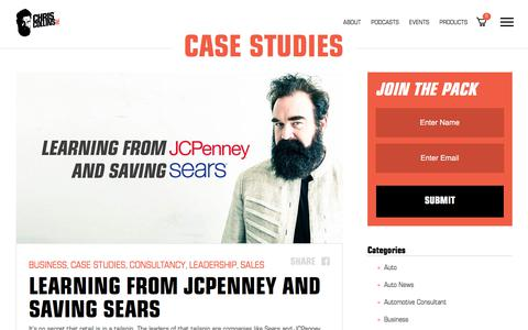 Screenshot of Case Studies Page chriscollinsinc.com - Case Studies Archives - Chris Collins - captured July 17, 2018