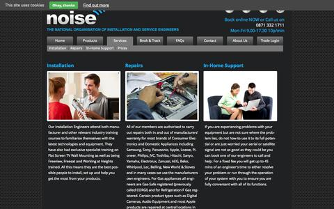 Screenshot of Services Page thenoiseuk.com - Services | Noise - captured Oct. 6, 2014