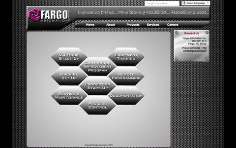 Screenshot of Services Page fargoautomation.com - Services - Fargo Automation Inc. - captured Sept. 30, 2014