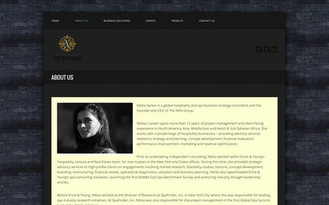 Screenshot of About Page thengroup.co - About Us | The NSN Group - captured Oct. 6, 2014