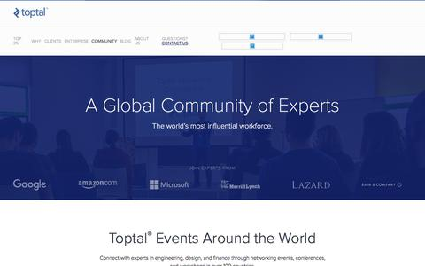 A Global Community of Experts | Toptal