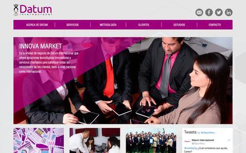 Screenshot of Home Page datum.com.pe - Datum Internacional - captured March 1, 2017