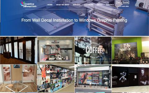 Screenshot of Services Page csvinyls.com - Wall Decoration | CSVinyls - captured Nov. 11, 2018