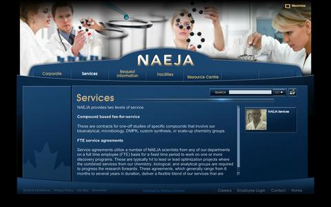 Screenshot of Services Page naeja.com - NAEJA - captured Oct. 7, 2014