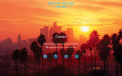 Screenshot of Contact Page rrivreworks.com - Rrivre Works - captured Feb. 15, 2016
