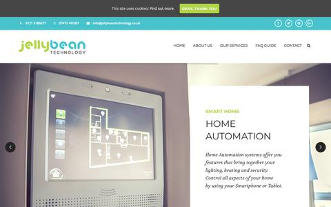 Screenshot of Home Page jellybeantechnology.co.uk - Home - Jellybean Technology - CCTV & IT Solutions - captured July 27, 2018