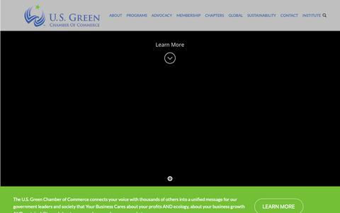 Screenshot of Home Page usgreenchamber.com - U.S. Green Chamber of Commerce | Why You Belong With America's Leading Forward-Thinking Businesses - captured Sept. 30, 2018