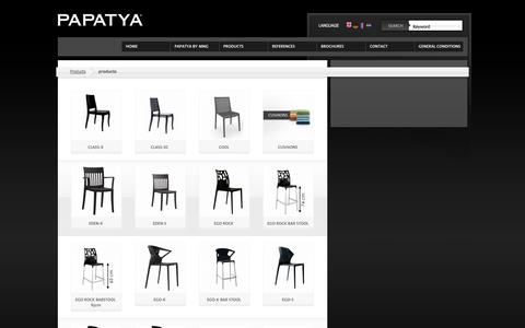 Screenshot of Products Page mng-papatya.com - products PAPATYA by Meet n Greet - captured Oct. 1, 2014