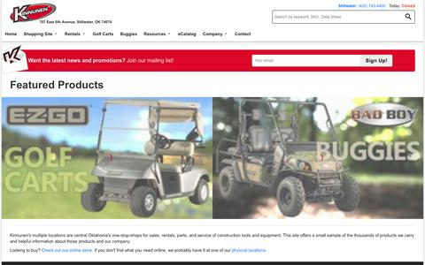 Screenshot of Home Page ksrsales.com - Kinnunen Construction Tools & Equipment Sales, Rentals, Parts, Service - Kinnunen - captured Sept. 6, 2015