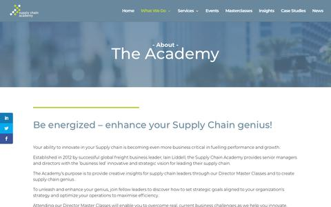 Screenshot of About Page supplychainacademy.org.uk - About Us - The Supply Chain Academy - captured Nov. 19, 2018