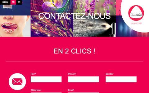 Screenshot of Contact Page cristalco.com - Contact - Cristalco - captured Dec. 13, 2015
