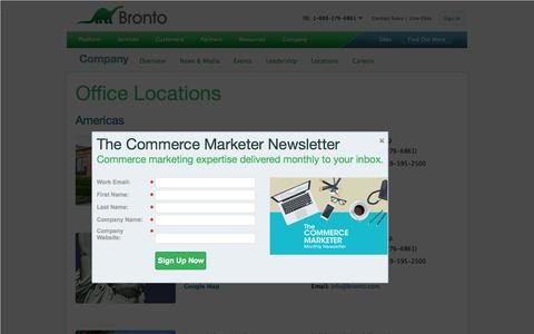 Screenshot of Contact Page bronto.com - Contact Bronto Software | Bronto Software - captured Oct. 2, 2015