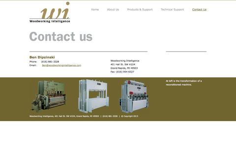 Screenshot of Contact Page woodworkingintelligence.com - Woodworking Intelligence - captured Oct. 26, 2014