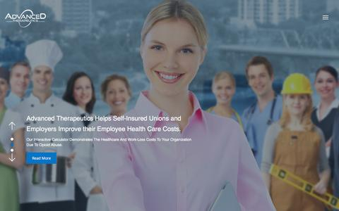Screenshot of Home Page advancedtherapeutics.com - Advanced therapeutics - captured July 28, 2018