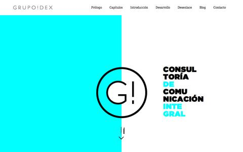 Screenshot of Home Page grupoidex.es - Consultoría de comunicación integral, estrategia y marketing online - captured July 25, 2018