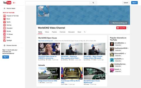 Screenshot of YouTube Page youtube.com - WorldCNG Video Channel  - YouTube - captured Oct. 26, 2014