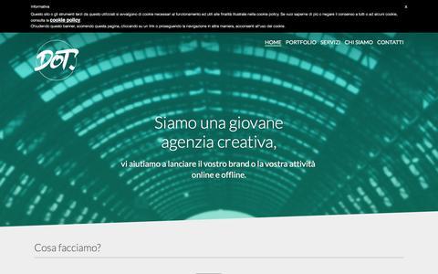 Screenshot of Home Page dot-agency.it - DOT agency - Agenzia creativa a Bergamo - captured Feb. 8, 2016