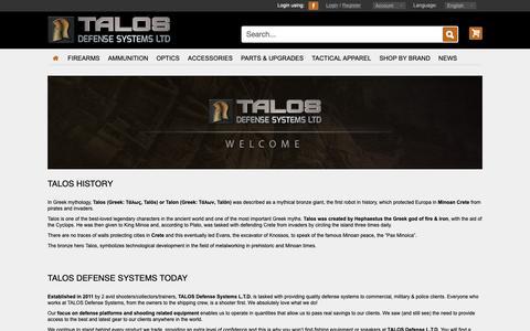 Screenshot of About Page talosdefense.com - Talos Defense Systems - Profile - captured Nov. 16, 2018