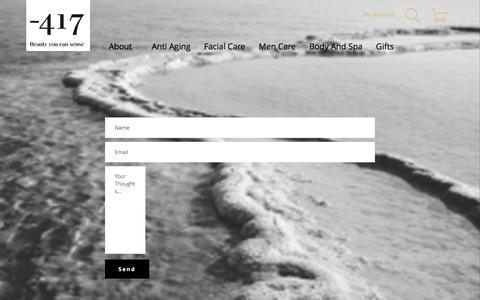 Screenshot of Contact Page minus417.com - Contact Us - captured Aug. 18, 2016