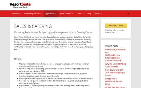 SALES & CATERING | ResortSuite