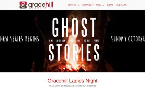 Screenshot of Home Page gracehill.cc - Gracehill - captured Oct. 3, 2014