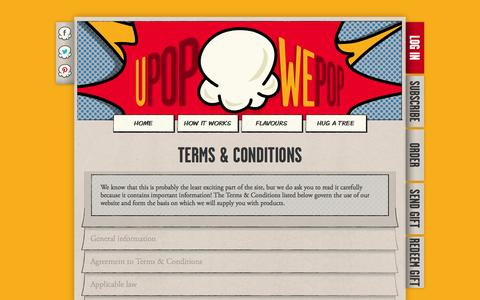 Screenshot of Terms Page upopwepop.ie - uPop*wePop :: Terms and conditions - captured Oct. 26, 2014