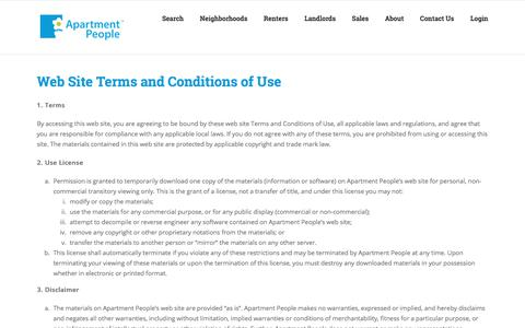 Screenshot of Privacy Page apartmentpeople.com - Privacy Policy - Apartment People Chicago - captured Feb. 7, 2018