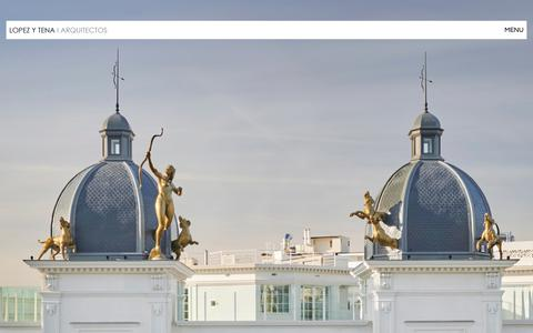 Screenshot of Home Page lopezytena.es - LOPEZ Y TENA I ARQUITECTOS - captured Dec. 20, 2018