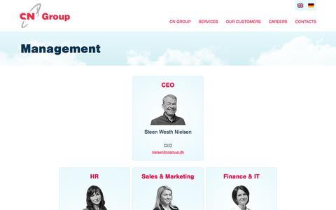 Screenshot of Team Page cngroup.dk - Management | CN Group - captured Jan. 23, 2016