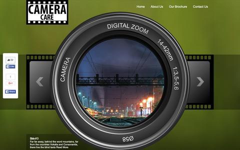 Screenshot of Home Page cameracare.com - Camera Care - captured June 16, 2016