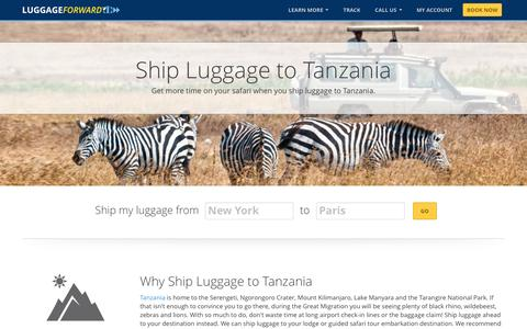 Ship Luggage to Tanzania | Ship Bags to Tanzania