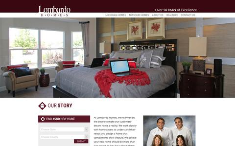 Screenshot of About Page lombardohomes.com - About Us | Lombardo Homes - captured Dec. 13, 2015