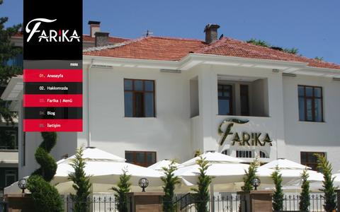 Screenshot of Home Page farika.com.tr - Farika | Bistro - captured Sept. 23, 2014