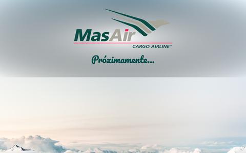 Screenshot of Home Page masair.com - Masair.com - captured Oct. 2, 2018