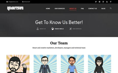 Screenshot of Team Page ashterz.com - Our Team | Best Professionals of IT Solutions Services | AshterzSoft - captured Nov. 2, 2014