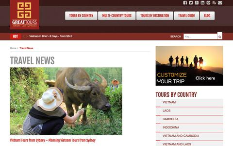 Screenshot of Press Page vietnamgreattours.com - Travel News - Vietnam Tours - Indochina Tours - captured Nov. 19, 2018
