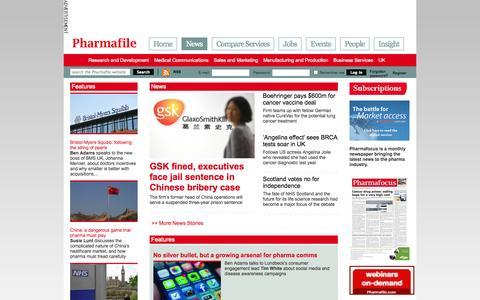 Screenshot of Press Page pharmafile.com - News | Pharmafile - captured Sept. 23, 2014