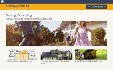 Screenshot of Blog verengosolar.com - Blog | Verengo solar - captured Dec. 3, 2015