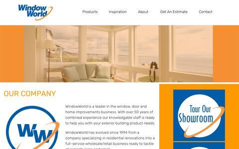 Screenshot of About Page windowworld.ca - About | Window World - captured Sept. 27, 2018